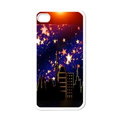 Star Advent Christmas Eve Christmas Apple iPhone 4 Case (White)