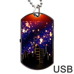 Star Advent Christmas Eve Christmas Dog Tag USB Flash (One Side)