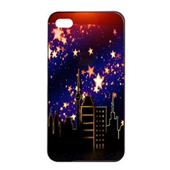 Star Advent Christmas Eve Christmas Apple Iphone 4/4s Seamless Case (black)
