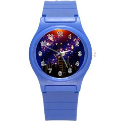 Star Advent Christmas Eve Christmas Round Plastic Sport Watch (s)