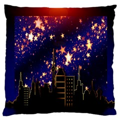 Star Advent Christmas Eve Christmas Large Cushion Case (two Sides)