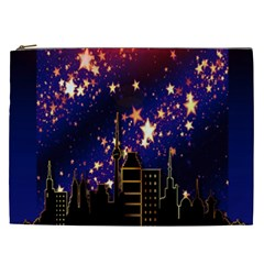Star Advent Christmas Eve Christmas Cosmetic Bag (XXL)