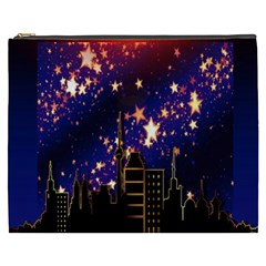 Star Advent Christmas Eve Christmas Cosmetic Bag (xxxl)