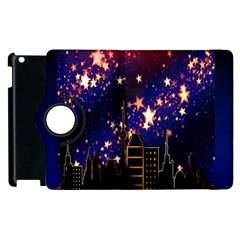 Star Advent Christmas Eve Christmas Apple Ipad 3/4 Flip 360 Case