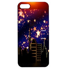 Star Advent Christmas Eve Christmas Apple Iphone 5 Hardshell Case With Stand