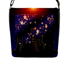 Star Advent Christmas Eve Christmas Flap Messenger Bag (l)