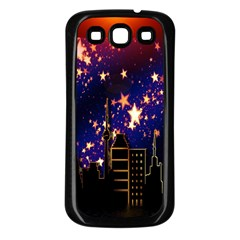 Star Advent Christmas Eve Christmas Samsung Galaxy S3 Back Case (black)