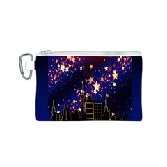 Star Advent Christmas Eve Christmas Canvas Cosmetic Bag (S)
