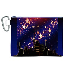 Star Advent Christmas Eve Christmas Canvas Cosmetic Bag (xl)