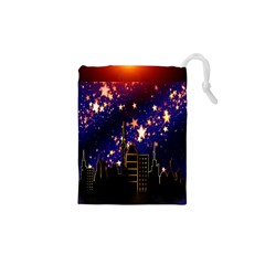 Star Advent Christmas Eve Christmas Drawstring Pouches (xs)