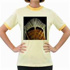 Spring Bird Feather Turkey Feather Women s Fitted Ringer T-Shirts