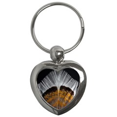 Spring Bird Feather Turkey Feather Key Chains (heart)