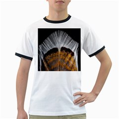 Spring Bird Feather Turkey Feather Ringer T Shirts