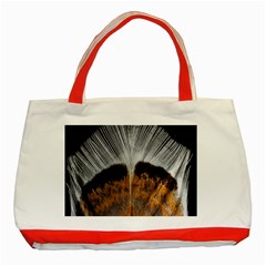Spring Bird Feather Turkey Feather Classic Tote Bag (Red)