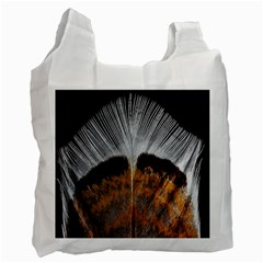 Spring Bird Feather Turkey Feather Recycle Bag (One Side)