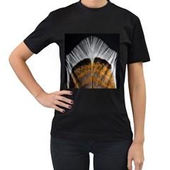 Spring Bird Feather Turkey Feather Women s T-Shirt (Black)
