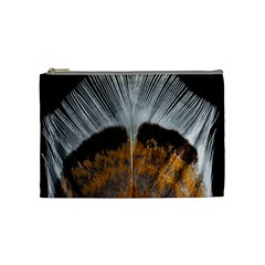 Spring Bird Feather Turkey Feather Cosmetic Bag (Medium)