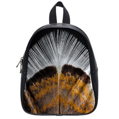 Spring Bird Feather Turkey Feather School Bags (Small)