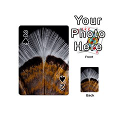 Spring Bird Feather Turkey Feather Playing Cards 54 (mini)