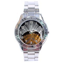 Spring Bird Feather Turkey Feather Stainless Steel Analogue Watch