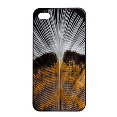 Spring Bird Feather Turkey Feather Apple iPhone 4/4s Seamless Case (Black)