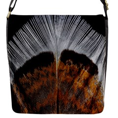 Spring Bird Feather Turkey Feather Flap Messenger Bag (S)