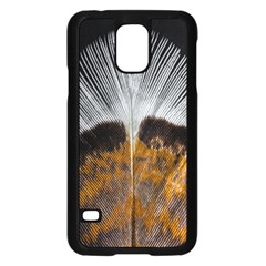 Spring Bird Feather Turkey Feather Samsung Galaxy S5 Case (Black)