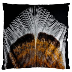 Spring Bird Feather Turkey Feather Large Flano Cushion Case (one Side)