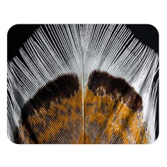 Spring Bird Feather Turkey Feather Double Sided Flano Blanket (Large)