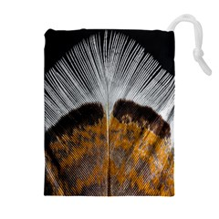 Spring Bird Feather Turkey Feather Drawstring Pouches (extra Large)