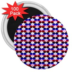 Star Pattern 3  Magnets (100 pack)