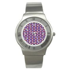 Star Pattern Stainless Steel Watch