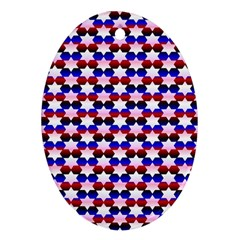 Star Pattern Oval Ornament (Two Sides)