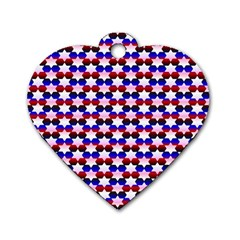 Star Pattern Dog Tag Heart (Two Sides)