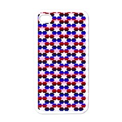 Star Pattern Apple iPhone 4 Case (White)