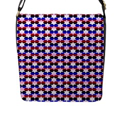 Star Pattern Flap Messenger Bag (l)
