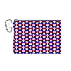 Star Pattern Canvas Cosmetic Bag (M)