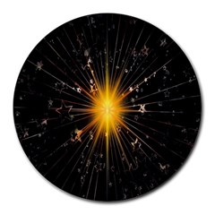 Star Christmas Advent Decoration Round Mousepads