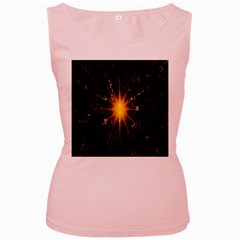 Star Christmas Advent Decoration Women s Pink Tank Top
