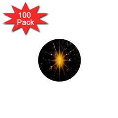 Star Christmas Advent Decoration 1  Mini Magnets (100 pack)