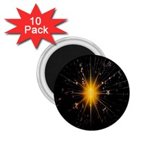 Star Christmas Advent Decoration 1 75  Magnets (10 Pack)