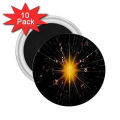 Star Christmas Advent Decoration 2 25  Magnets (10 Pack)