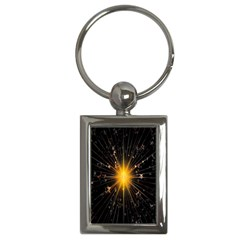 Star Christmas Advent Decoration Key Chains (rectangle)