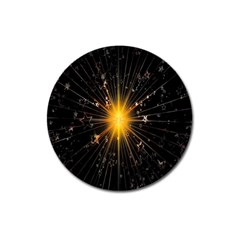 Star Christmas Advent Decoration Magnet 3  (Round)
