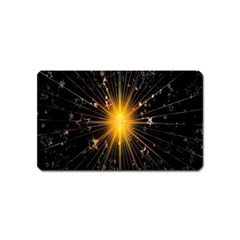 Star Christmas Advent Decoration Magnet (Name Card)