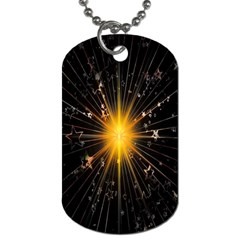 Star Christmas Advent Decoration Dog Tag (Two Sides)