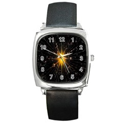 Star Christmas Advent Decoration Square Metal Watch