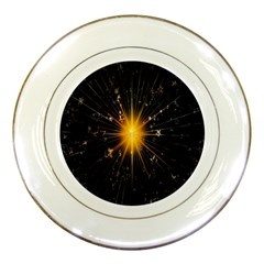 Star Christmas Advent Decoration Porcelain Plates