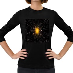 Star Christmas Advent Decoration Women s Long Sleeve Dark T Shirts