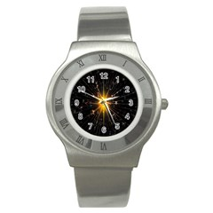 Star Christmas Advent Decoration Stainless Steel Watch